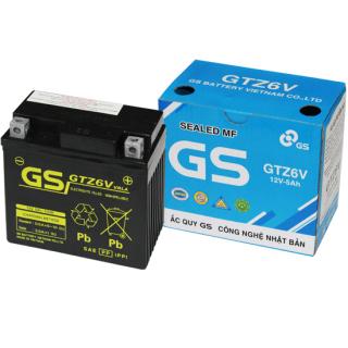 Bình Ắc Quy Khô GS GTZ6V (12V-5AH), Bình ắc quy xe máy, acquy xe máy, bình ac quy, bình acquy, acquy 12v, bình ắc quy khô xe máy, acquy gs, ắc quy gs - BÌNH MF GS GTZ6V (12V-5AH)Mã SP GTZ6V dành cho xe tay ga, dòng xe số Honda, yamaha, Suzuki thumbnail