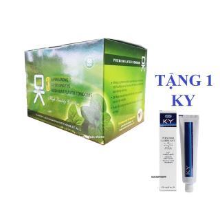 [HCM]Bộ 1 hộp lớn bao cao su OKHQ BẠC HÀ - cho cảm giác mát lạnh thăng hoa-144c.Tang gel durexx KY thumbnail