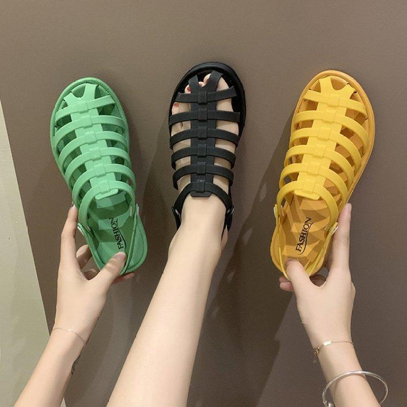 Sandal Nữ Nhựa Dẻo Đi Mưa Kiểu Dáng Hàn Quốc giá rẻ