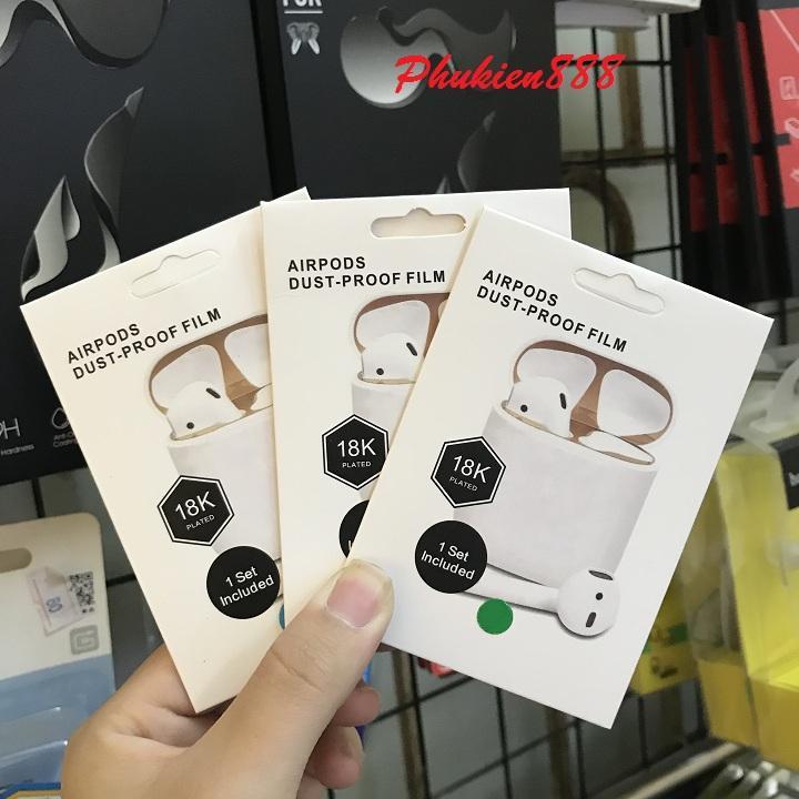 Miếng dán skin chống bụi cho case Airpods - PK082