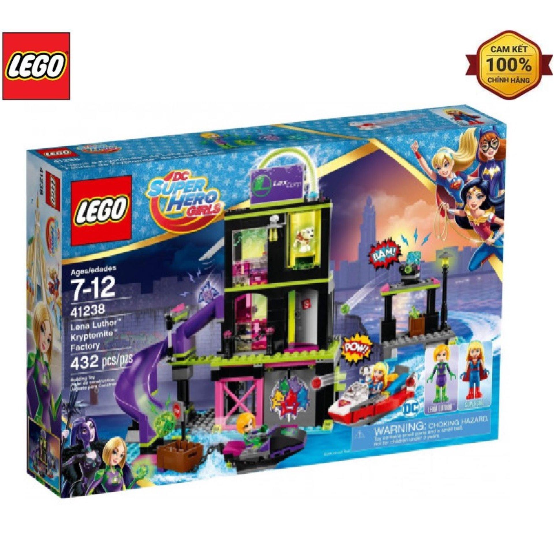 Giảm Giá Ưu Đãi Khi Mua Xưởng Chế Tạo Của Lena Luthor Kryptomite LEGO SUPER HERO GIRLS 41238 (432 Chi Tiết)