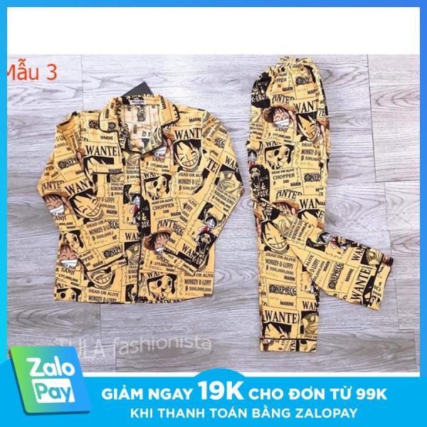 Nơi bán Bộ Đồ Sơ Mi Lụa One Piece, Bộ Đồ Pijama Lụa Dài Tay Phù Hợp Cả Nam Và Nữ