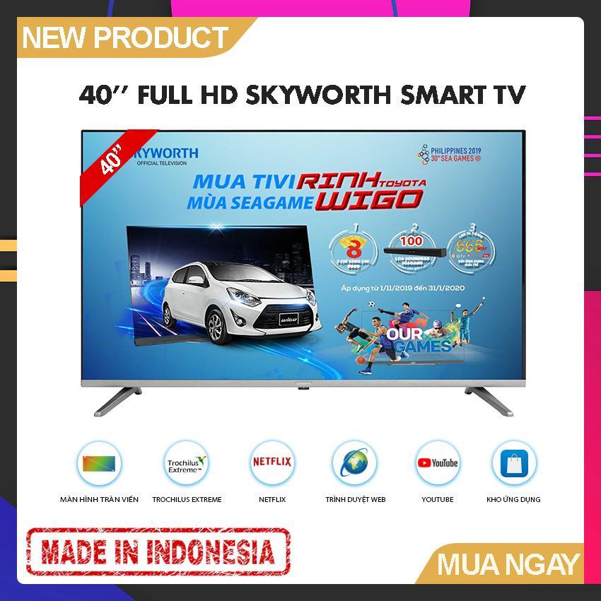 Bảng giá Smart TV Skyworth 40 inch Full HD - Model 40TB5000 (2019) Tràn viền, Hễ điều hành Lunix, Youtube, Kết nối với điện thoại - Bảo Hành 2 Năm
