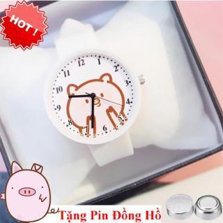 đồng hồ dây cao su nữ Candycat mẫu mới hình heo cute 2019, dây cao su mềm mại ( tặng 1 viên pin ) thumbnail