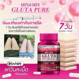 Viên uống trắng da cấp tốc MinMin Gluta Pure Thái lan cam kết chuẩn thumbnail