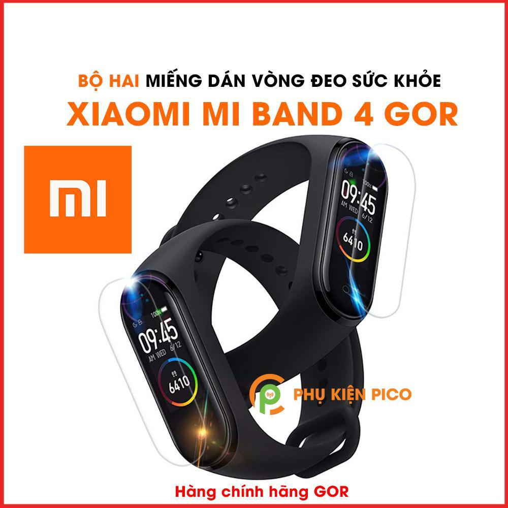 Nơi bán Dán dẻo Mi Band 4 bộ 2 miếng Gor - Miếng dán dẻo đồng hồ Xiaomi Mi Band 4 nguyên gốc Gor