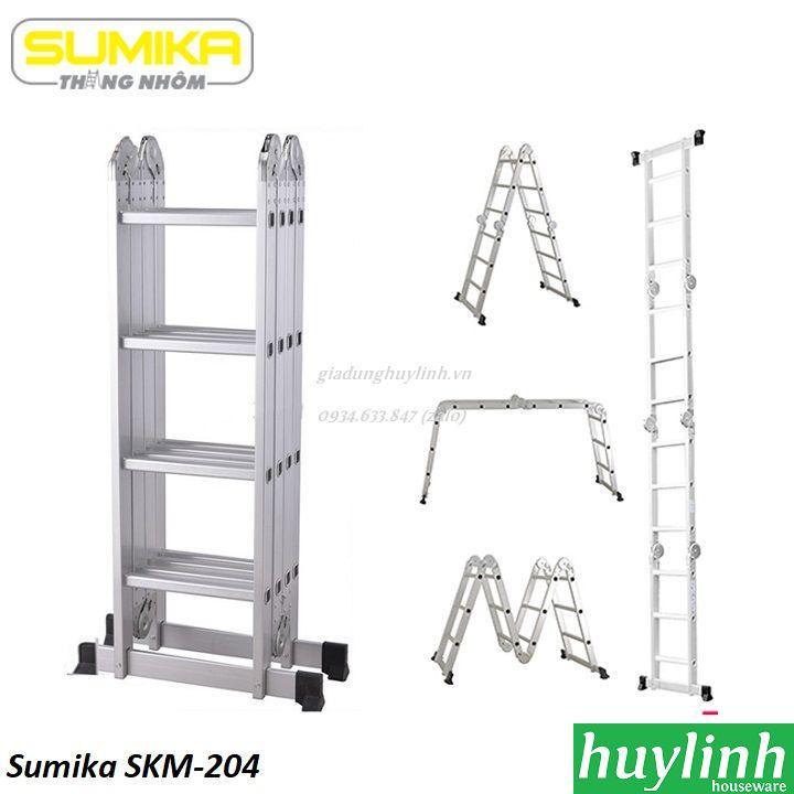 Thang nhôm gấp đa năng 4 đoạn Sumika SKM-204 - 4.7 mét