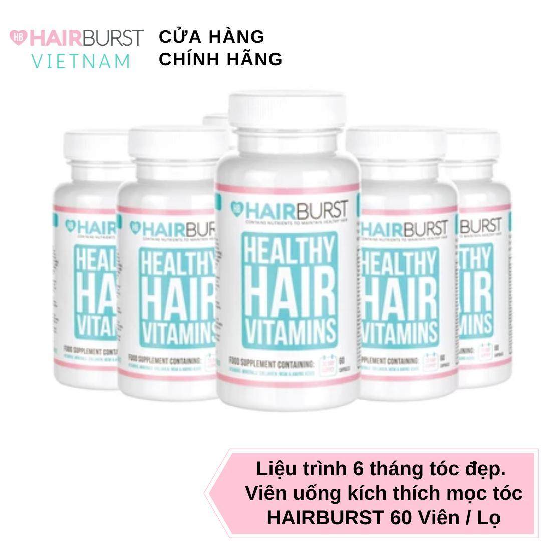 Combo 6 lọ viên uống HAIRBURST healthy hair vitamin dưỡng tóc chắc khỏe, kích thích mọc tóc 60 gram/ lọ