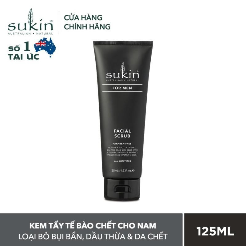 [QUÀ TẶNG ĐƠN TỪ 300K]Kem tẩy tế bào chết dành cho nam Sukin For Men Facial Scrub 125ml