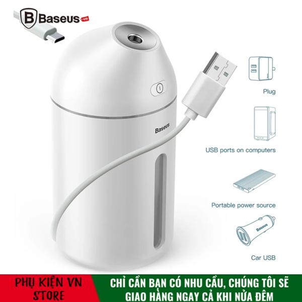 Máy phun sương tạo ẩm - lọc không khí mini Baseus Cute Mini Air Humidifier LV087  (320ml, USB 5V)