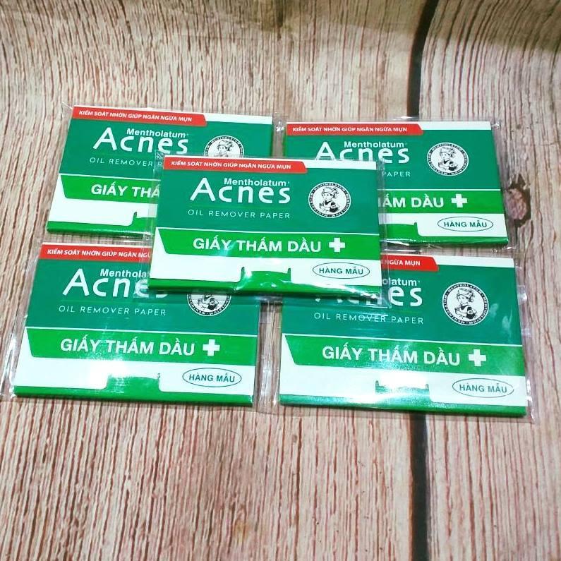 Combo 5 gói Giấy thấm dầu Acnes 50 tờ (hàng mẫu) tốt nhất