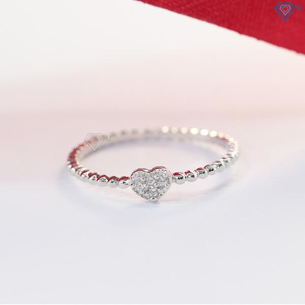 Nhẫn bạc nữ đính đá hình trái tim NN0216 - Trang Sức TNJ