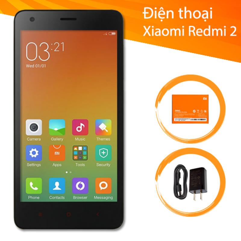 Điện Thoại Xiaomi Redmi 2 Chính Hãng - 2 sim - Full Phụ Kiện