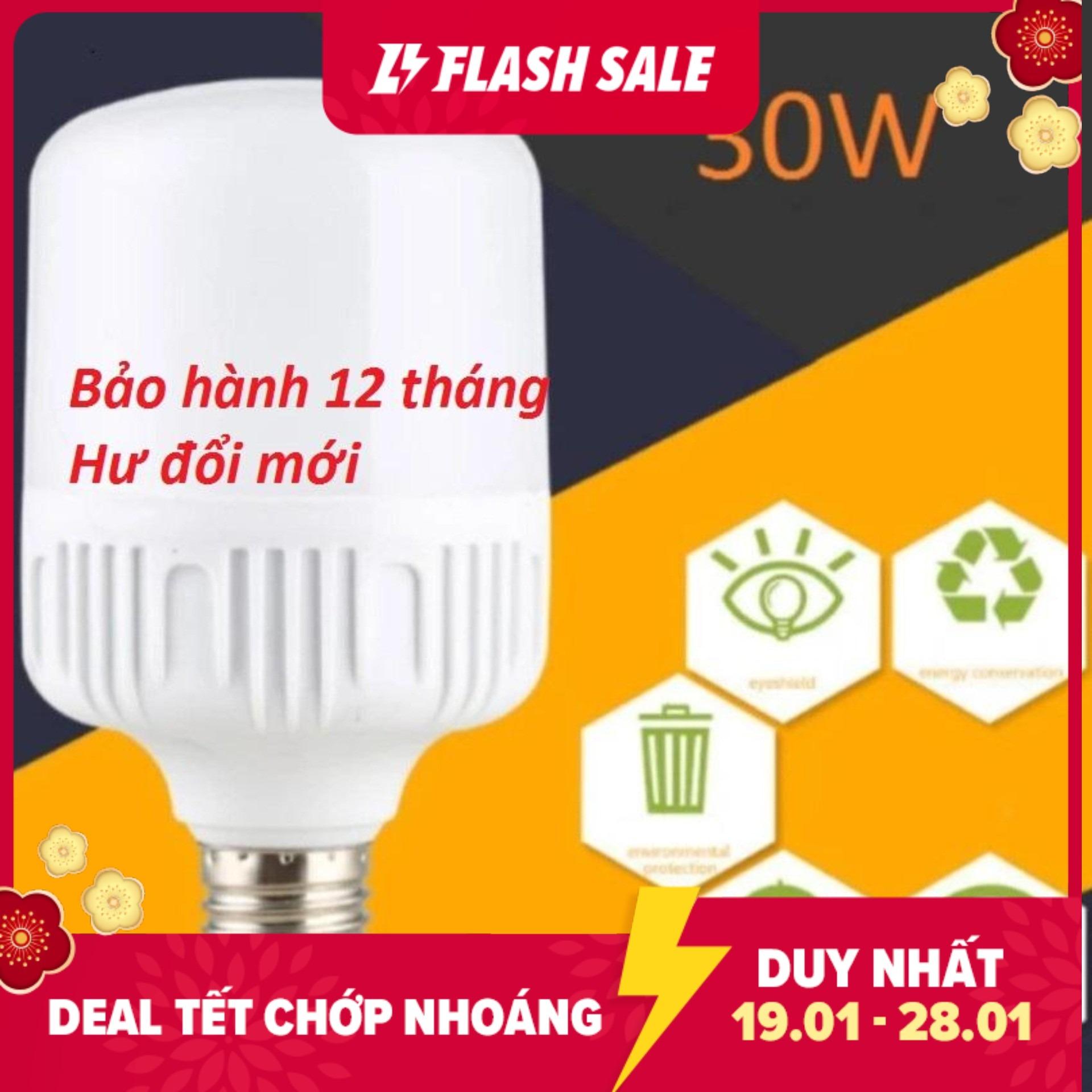Bộ 3 bóng đèn Led trụ 30W siêu sáng tiết kiệm điện-Bảo hành: 12 tháng