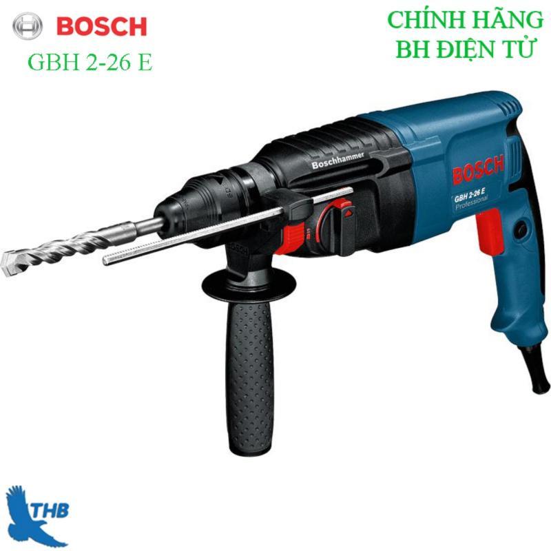 Máy khoan bê tông Máy khoan Búa Máy khoan tường Máy khoan đa năng Máy khoan Bosch chính hãng GBH 2-26 E ( Công suất 800W Bảo hành điện tử 12T, xuất xứ Malaysia Khoan bê tông tối đa 26mm ). 3 Chức năng khoan xoay Khoan búa và Công tắc điện tử