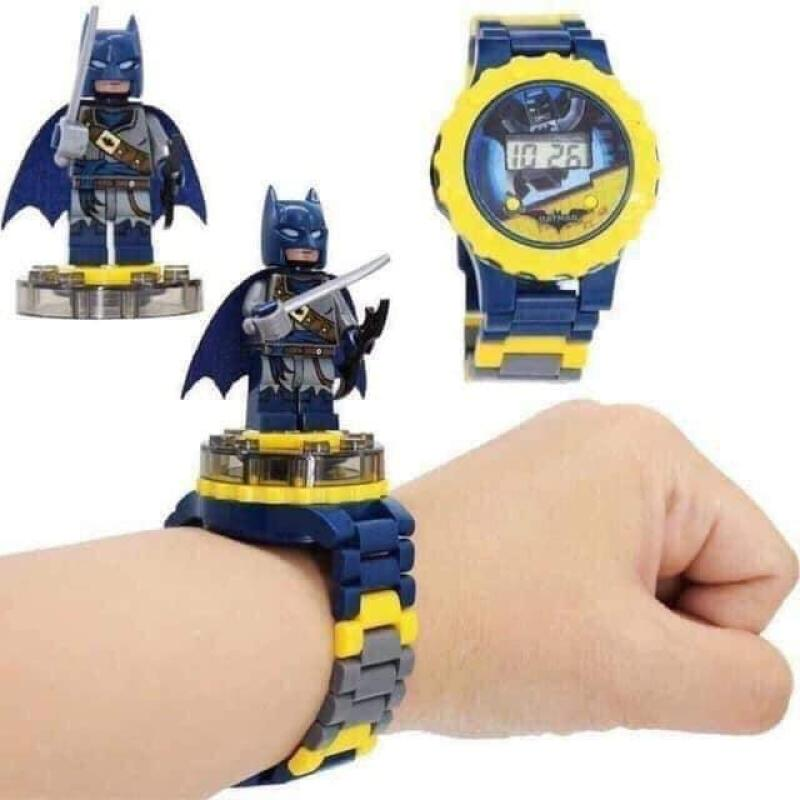 Nơi bán Đồng hồ Lego lắp ráp có hình nhân vật xoay trên mặt đồng hồ dành cho bé trai bé gái