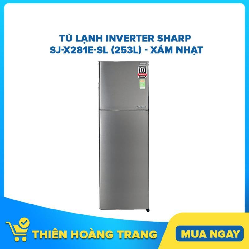 Tủ Lạnh Inverter Sharp SJ-X281E-SL (253L) - Xám Nhạt