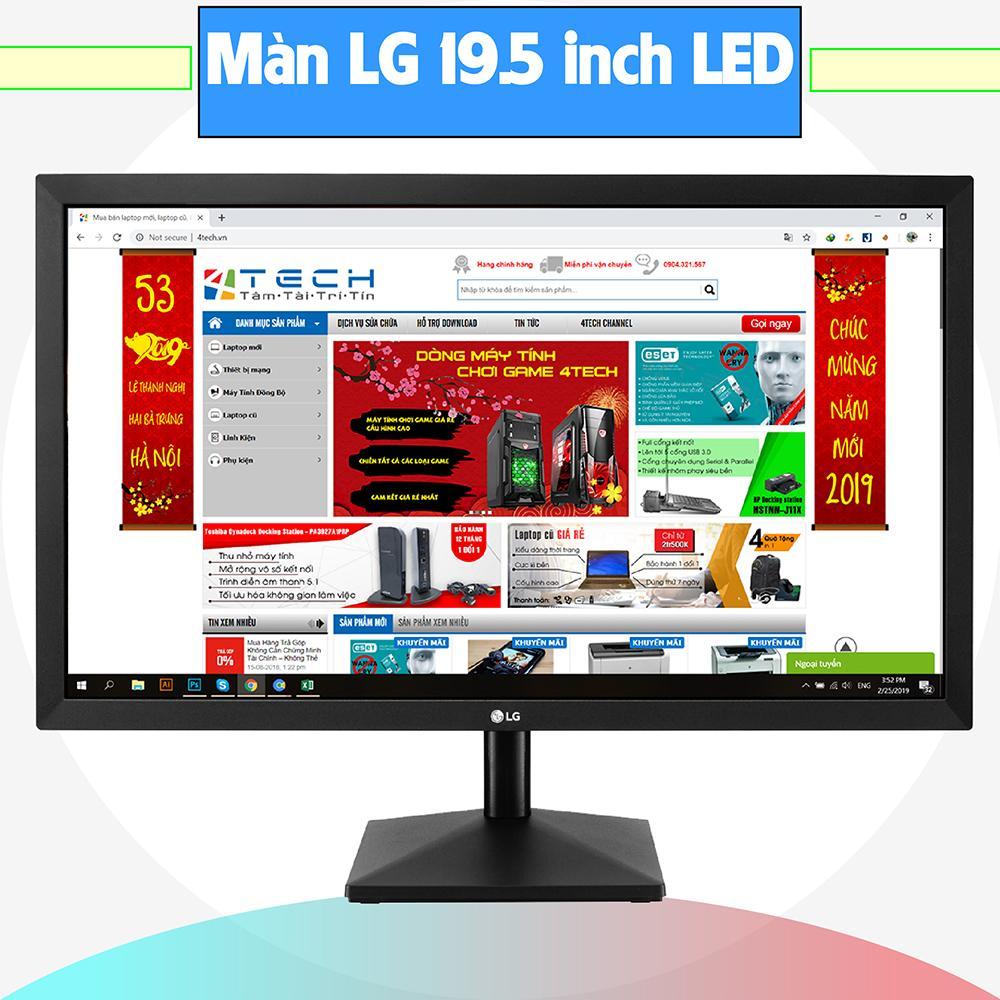 Màn hình máy tính LG 20 inch, màn hình máy tính chơi Game giá rẻ, monitor, màn hình LED phân giải 1366x768 kết nối Dsub/ Vga.