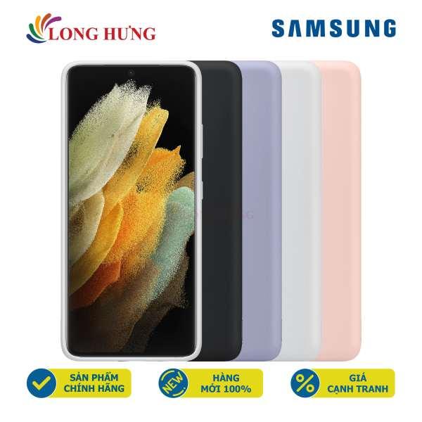 Ốp lưng dẻo Silicone Samsung Galaxy S21 Ultra 5G EF-PG998 - Hàng chính hãng - Thiết kế sang trọng Chất liệu cao cấp Bảo vệ mặt lưng máy chính hãng