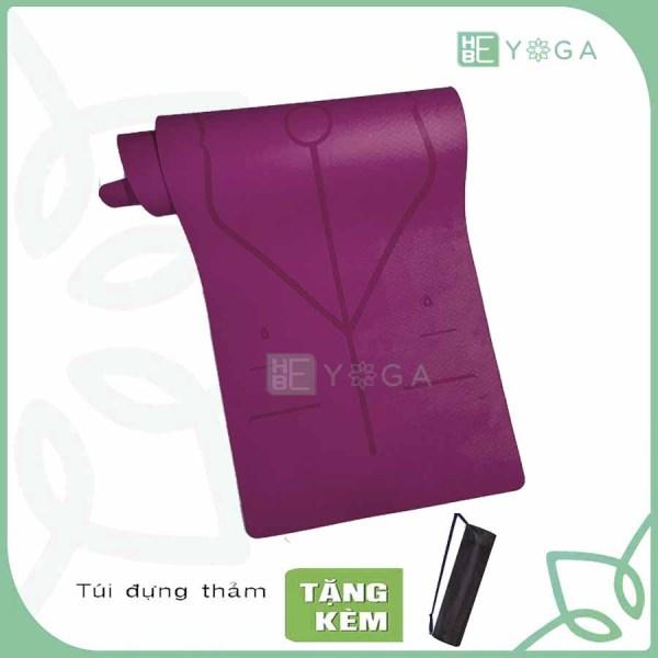 Bảng giá Thảm Tập Yoga Định Tuyến TPE 6mm và 8mm 1 Lớp Cao Cấp Kèm Túi