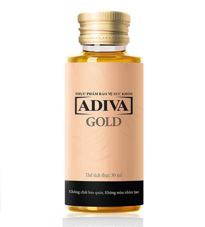 Dưỡng chất uống làm đẹp Collagen Adiva Gold 14 chai x 30ml - Quà tặng