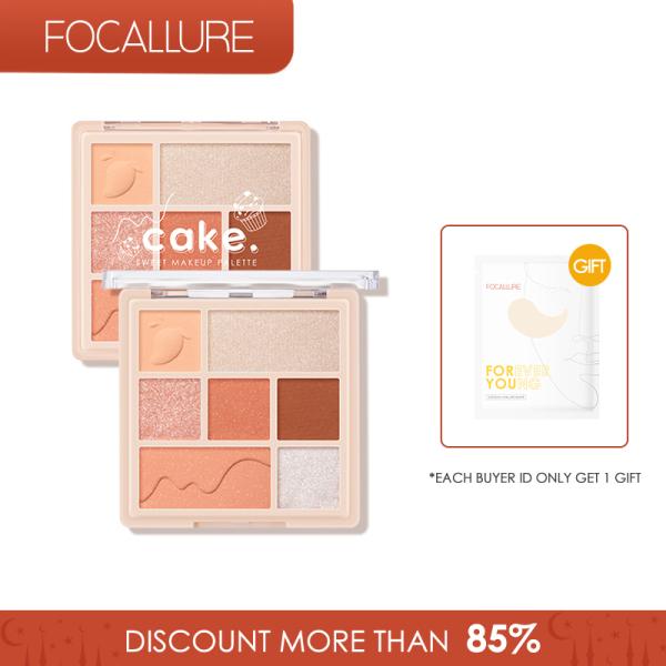 FOCALLURE Bảng phấn mắt và má hồng tạo hiệu ứng bắt sáng lung linh với 7 màu tùy chọn có trọng lượng 90g - INTL giá rẻ