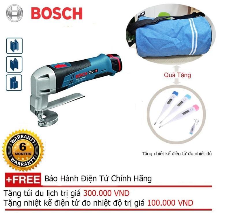Máy cắt tôn dùng pin Bosch GSC 12 V-13 (SOLO) + Quà tặng balo du lịch