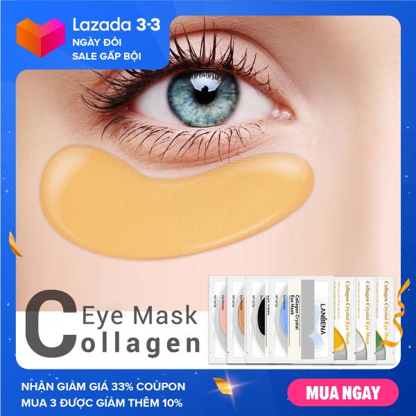 BREYLEE Mặt nạ mắt Collagen 24K Gold Eye Patch Xóa quầng thâm Túi mắt Nâng cơ săn chắc Chăm sóc mắt chống lão hóa 1 đôi nhập khẩu