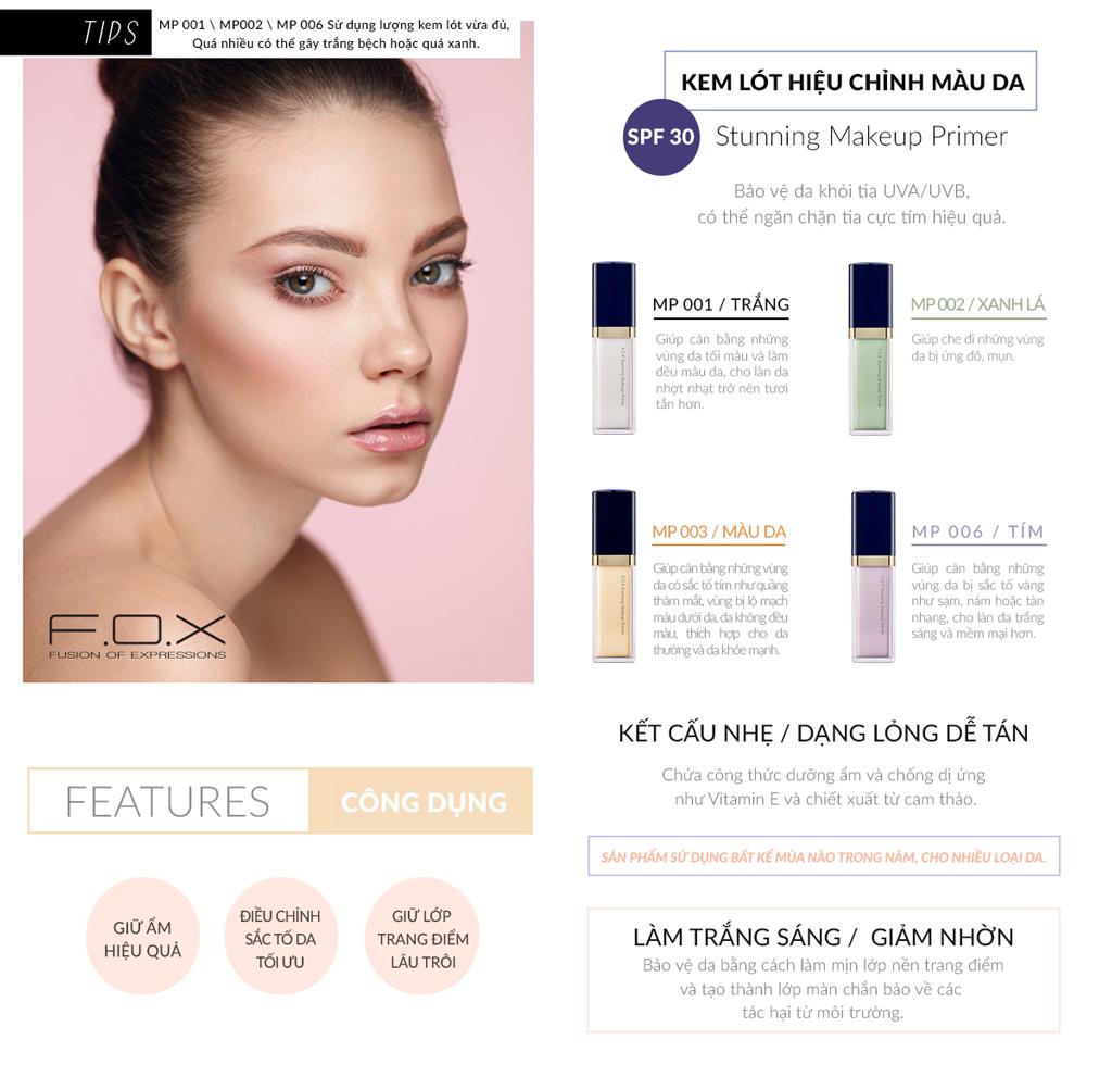 Kem Lót Hiệu Chỉnh Màu Da FOX - SPF30 Stunning Makeup Primer SPF30 10ml |  Lazada.vn