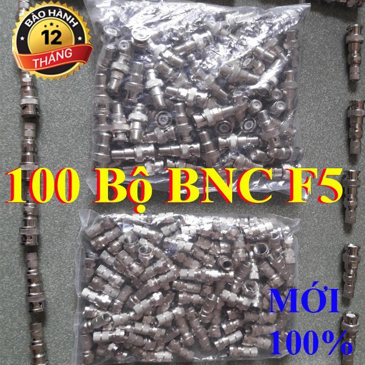 COMBO 100 jack BNC F5 lõi đồng đầu mạ bạc - BNC camera