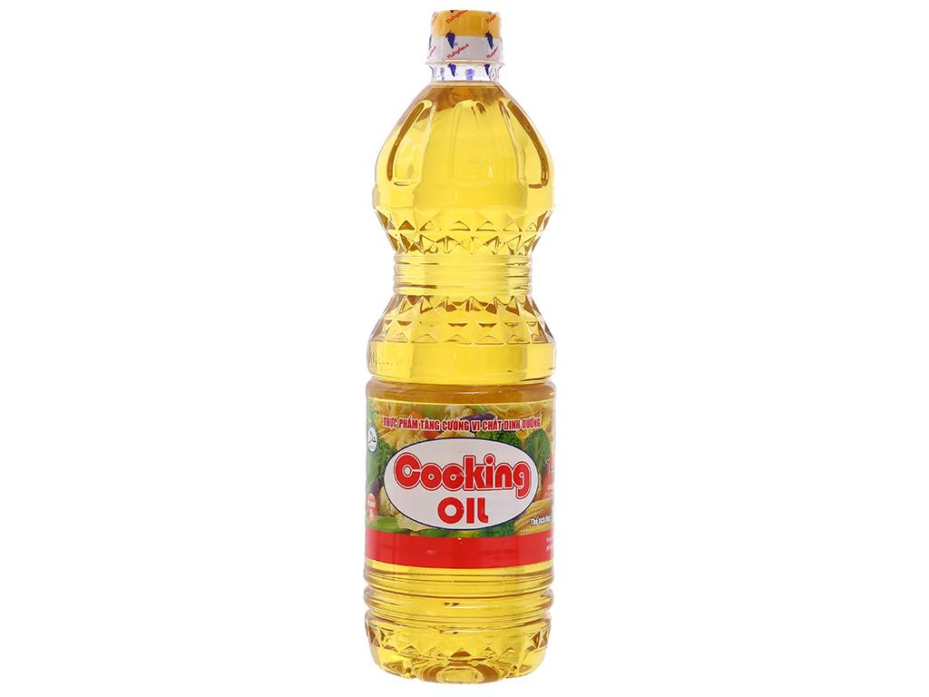 Dầu thực vật Nakydaco Cooking oil chai 1 lít