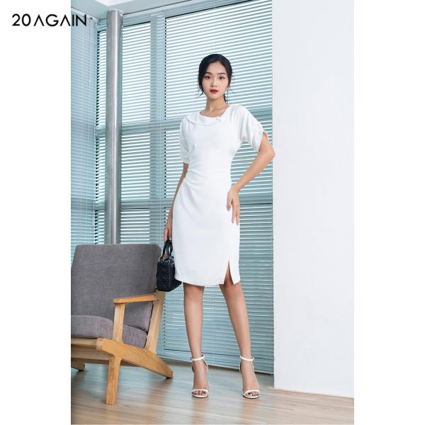 Nơi bán Đầm váy tay lỡ cổ lệch dúm eo DOA0981 20AGAIN