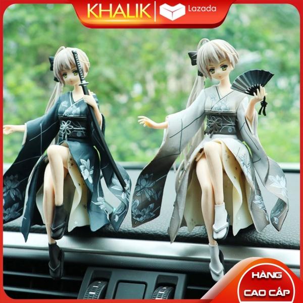 [Hàng cao cấp] Phụ kiện đồ chơi xe hơi ô tô KHALIK - Mô hình cô gái Nhật Bản trang trí nội thất taplo xe hơi ô tô, có miếng dán 3M kèm theo