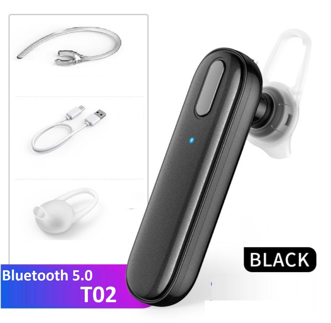 Tai nghe Bluetooth 5.0 kết nối 2 điện thoại, chức năng điều khiển giọng nói Siri, pin 300 mAh sử dụng liên tục từ 20 h - 40 h, sạc 2 giờ , thời gian chờ 365 ngày