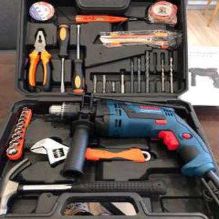 Bộ máy khoan b0sch công xuất lớn 1350w GSB 13re cầm tay, Bộ máy khoan cầm tay kèm 30 chi tiết phụ kiện đầy đủ dùng để khoan bê tông,khoan tường,khoan sắt,khoan gỗ, thumbnail
