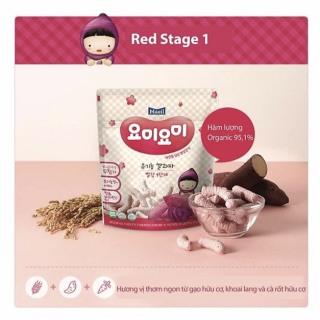 Bánh gạo ăn dặm hữu cơ Yummy Yummy Maeil vị khoai lang tím cho bé từ 7 tháng tuổi gói 25g - Bánh ăn dặm Hàn Quốc cho bé 100% nguyên liệu hữu cơ - VTP mẹ và bé TXTP038 thumbnail