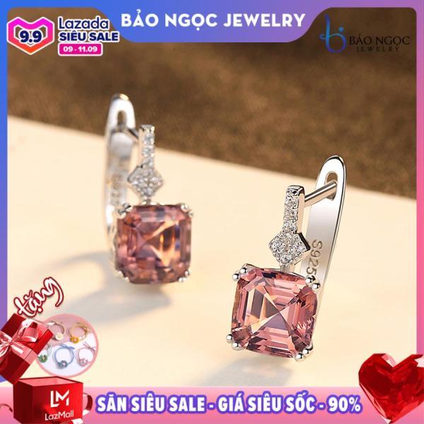 Bông tai thời trang bạc S925 Italy ngọc trai B2390- Bảo Ngọc Jewelry