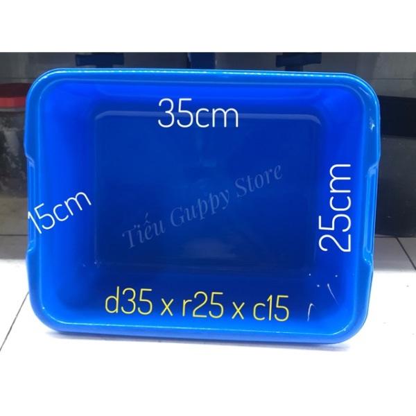 Combo 5 Thùng nhựa nuôi cá 35x25x15cm - 10 lít - chất liệu nhựa tốt(Xanh)