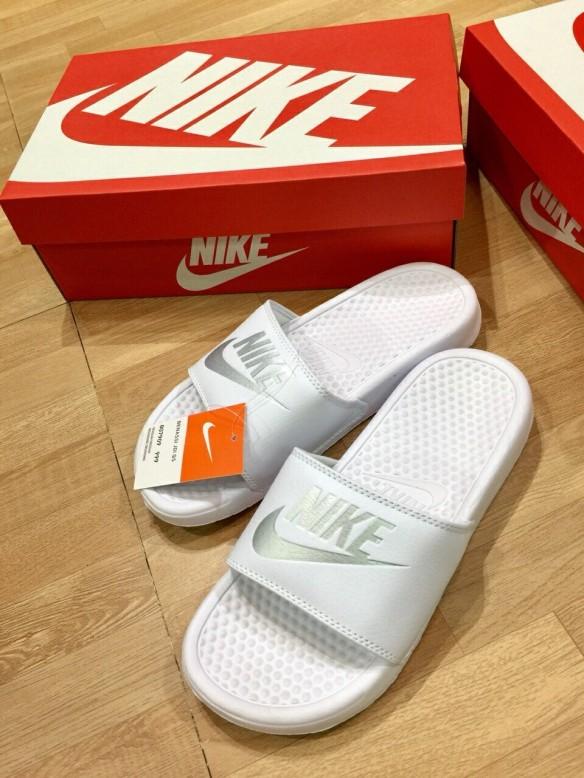 [Siêu Rẻ] Dép Nữ Nike Móc Trắng Thời Trang [Đi Kèm Hộp] giá rẻ