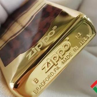 Bật Lửa Zippo Mỹ Gold fullbox Vintage Brushed Brass GOLD