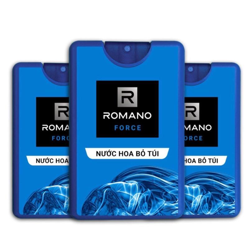 Combo 3 chai nước hoa bỏ túi Romano Force (18ml* 3)