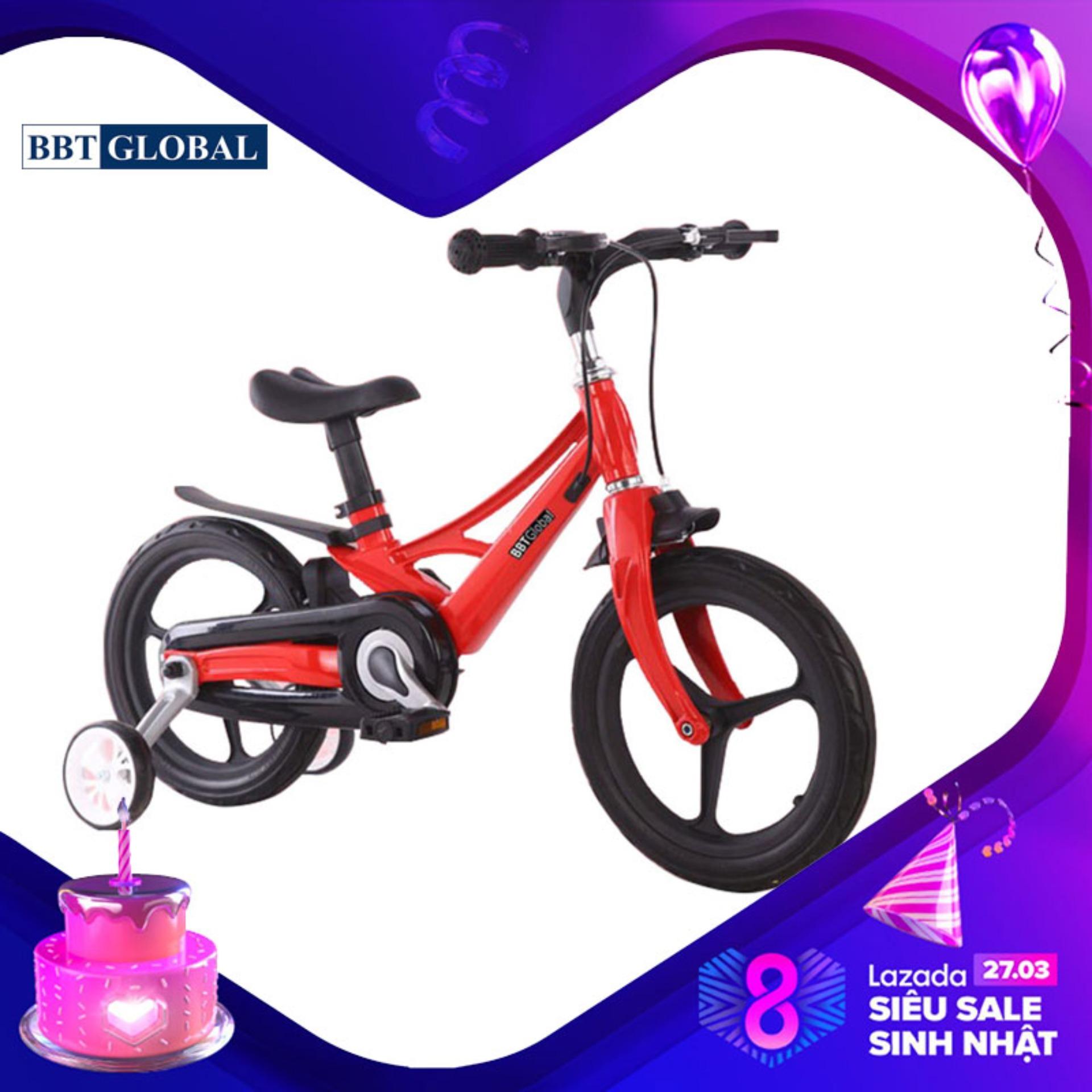 Giá bán Xe đạp trẻ em chính hãng BBT Global khung siêu nhẹ size 16 inch màu đỏ BB66-16D - xe đạp cho bé, xe tập đi, xe thăng bằng, do choi tre em, xe 4 bánh