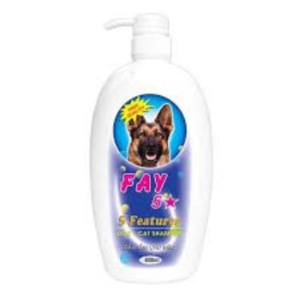 Dầu Tắm Sữa Tắm Diệt Ve Rận Bọ Chét Mượt Lông Khử Mùi Hôi Chó Mèo Fay 5 Sao 800ml
