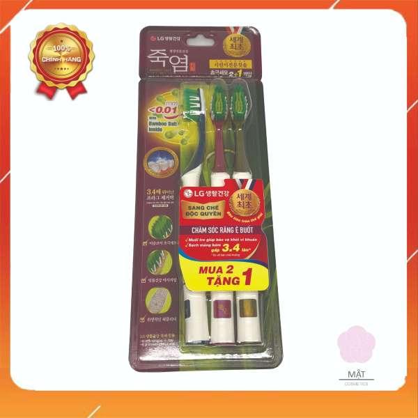 Bàn Chải Đánh Răng Bamboo Salt Shirinnee chăm sóc răng ê buốt vỉ 2+1