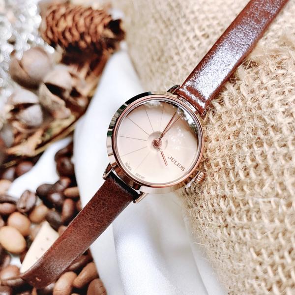 Nơi bán Đồng hồ nữ JA-979 Julius Hàn Quốc dây da (Nhiều màu)