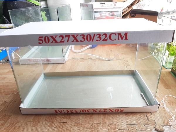 Bể cá mini kính đúc 50x27x30 cm