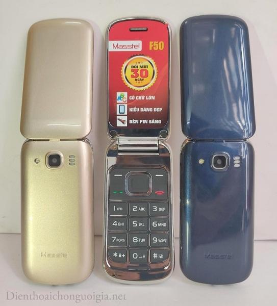 Điện thoại nắp gặp masstel f50 có 2 sim giá rẻ