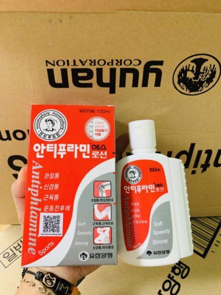 Dầu nóng xoa bóp Antiphlamine (100ml) của Hàn Quốc (màu đỏ) xịn