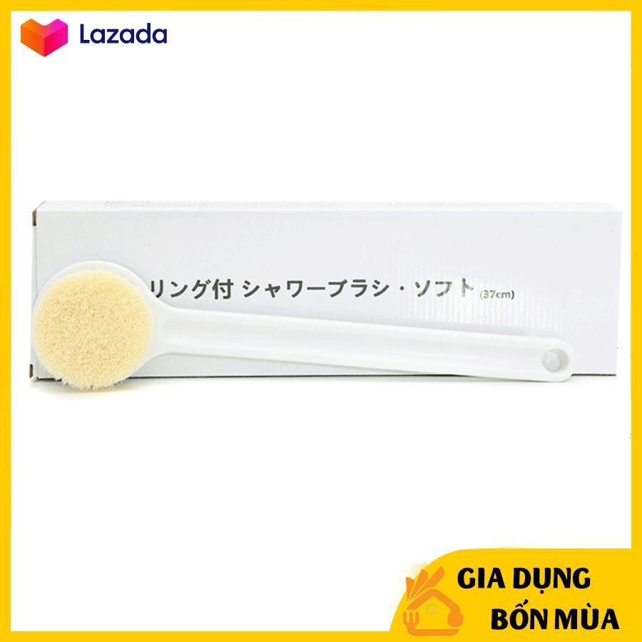 Cây bàn chải cọ lưng chà lưng Muji Nhật Bản - Cọ chà lưng siêu sạch loại I