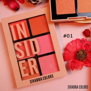 Bảng Phấn Má Hồng 6 Ô Có Nhũ Và Lì Sivanna Insider Intensity Palette siêu xinh thumbnail